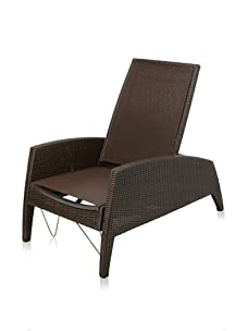 Les Jardins Kahuna Multi-Position Steamer Chair (Brown/Off-Brown)