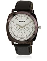 Fl-120-Ipbr-Sl01 Brown/Silver Analog Watch Flud