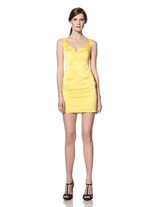 Black Halo Women's Jackie O Sleeveless Dress (Yellow Zest)