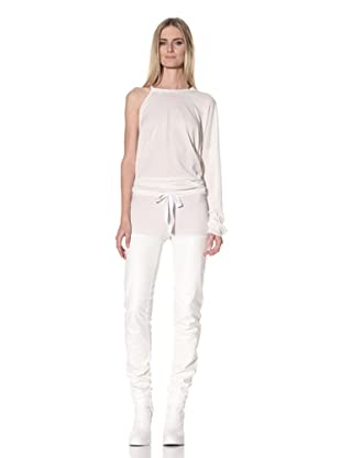 Ann Demeulemeester Women's Slim Leg Panel Trousers (Off-White)