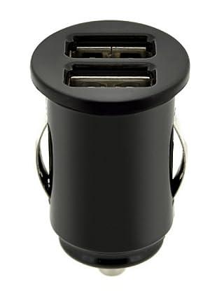 Blautel Universal Cable Cargador Mechero 2Puertos Usb Negro