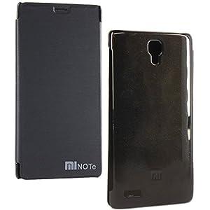 DMG Flip Book Hard Back Cover Case For Xiaomi Redmi Note (Black)