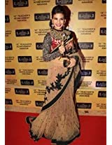 Ethnic Trend Georgette Silk Party Bollywood Replica Saree - 140 (Beige)