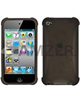 Amzer AMZ89268 Silicone Skin Jelly Case for iPod Touch 4th Gen (Grey)