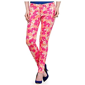 Yepme Kristy Pants - Peach & Pink