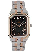 Ciemme Men's Luxury Watches Navy Blue Dial Stainless Steel Rose Gold Swiss Quartz Movt