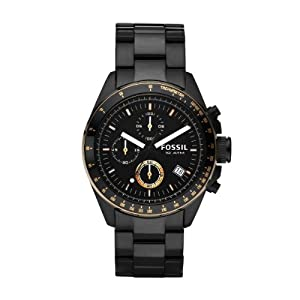 Fossil End of Season Decker Chronograph Black Dial Men's Watch - CH2619