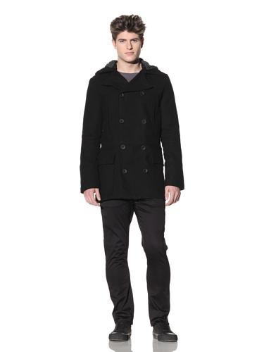 ZAK Men's Double Breasted Coat (Black)