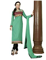 Kvsfab Green Cotton Cambric Salwar Kameez