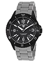 Luminoso Grey Silicone And Black Ip Steel Black Dial (93608-Bb-11-Grys)
