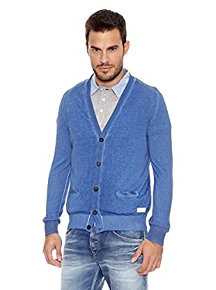 Pepe Jeans London Chaqueta Punto Wright (Azul)