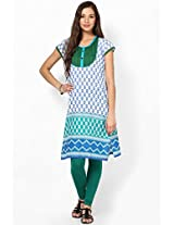 Cotton Blue Kurti