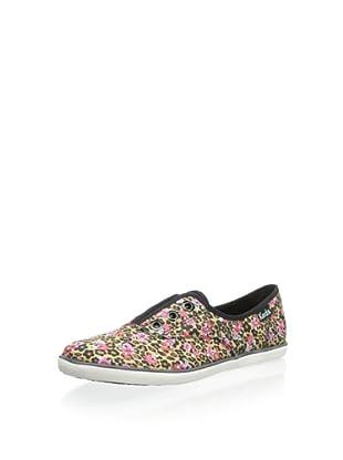 Keds Women's Rookie Lace-Less Sneaker (Leopard Tan)