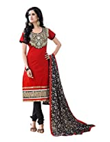 Fabdeal Women Chanderi Embroidered Salwar Kameez