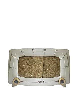 1950s Vintage Arvin Radio, Ivory/Gold