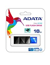 ADATA UC340 16GB USB 3.0 Push to Open and Fast Read Speed up to 90MB/s Flash Drive, Blue (AUC340-16G-RBL)