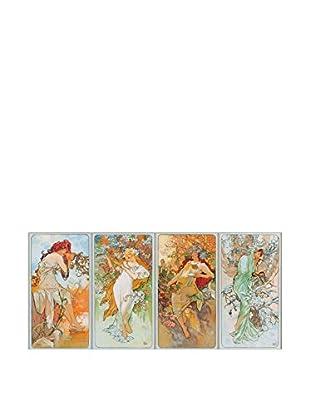 Artopweb Panel Decorativo Mucha Four Seasons