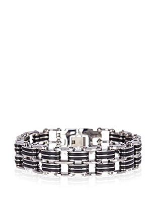 Blackjack Jewelry Armband BJB48 Steel/Black