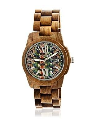 Earth Uhr mit Japanischem Quarzuhrwerk Heartwood Ethew1508 mittelbraun 43  mm