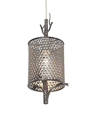 Varaluz Treefold 1-Light Mini Pendant, Steel