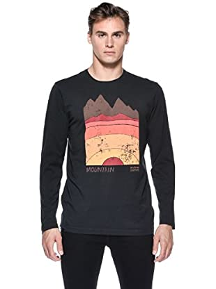 Rip Curl T-Shirt Day & Night L/S Tee (Nero)