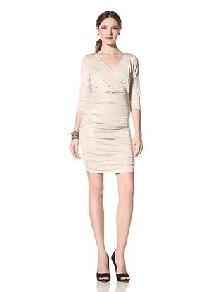 Marc New York Women's Metallic Ruched Dress (Light Gold)