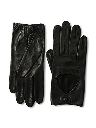 Portolano Women's Silk-Lined Driving Gloves (Black)