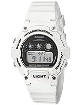 Casio Kids W-214HC-7AVCF Classic Digital Display Quartz White Watch