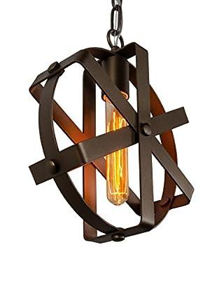 Varaluz Reel 1-Light Mini Pendant, Rustic Bronze