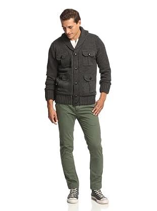 American Stitch Men's Five Pocket Sweater (Dark Grey)
