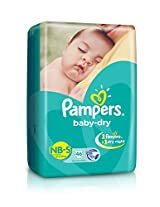 Pampers Baby dry Diapers Small Size (46 Count)
