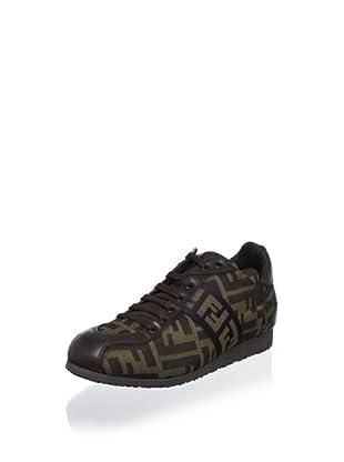 Fendi Women's Logoed Sneaker (Tobacco Nero/Noro)