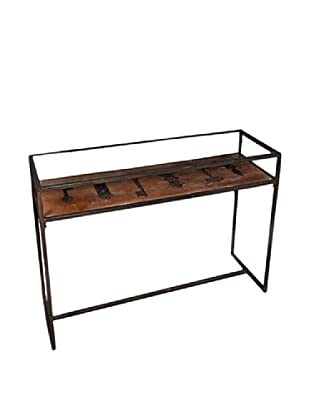 Winward Maverick Iron Console Table With Key, Brown