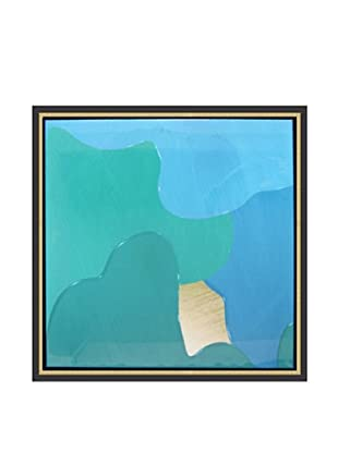 Jordan Carlyle Teal Drip Framed Art