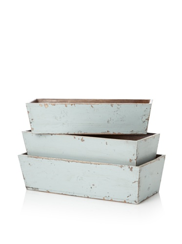 Antique Revival 3-Piece Planter Set (Turquoise)