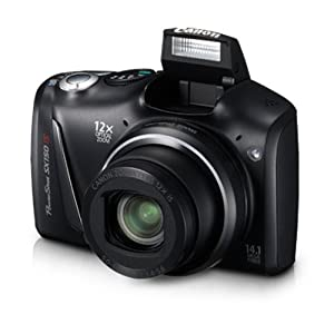 Canon PowerShot SX150 IS 14.1MP Point-and-Shoot Digital Camera (Black) with Memory Card, Camera Case