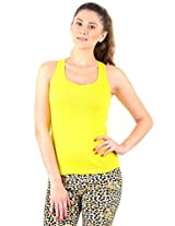 Yellow Solid Camisole Slip For Women's M