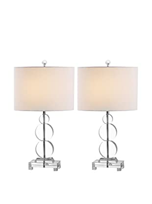 Safavieh Set of 2 Moira Crystal Table Lamps