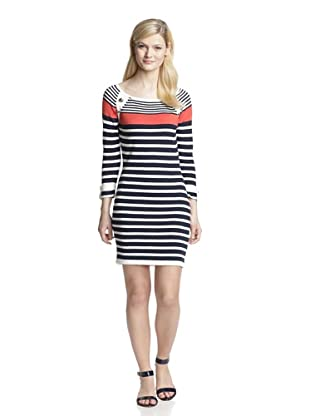 Romeo & Juliet Couture Women's Striped Sweater Dress (Red/White/Navy)