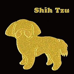 【クリックでお店のこの商品のページへ】彩蒔絵本舗 I LOVE DOGシリーズ シーズー ゴールド LOVEDOG-05-GD