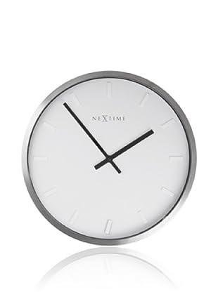 NeXtime Paniki Stripe Wall Clock (Silver)