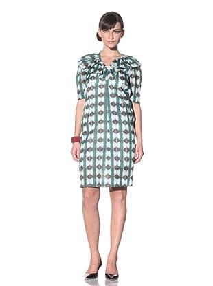 MARNI Women's Lightweight Printed Dress (Thyme Light Green)