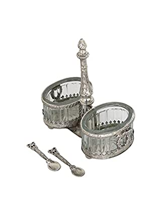 Blue Ocean Traders Double Salt Cellar, Silver