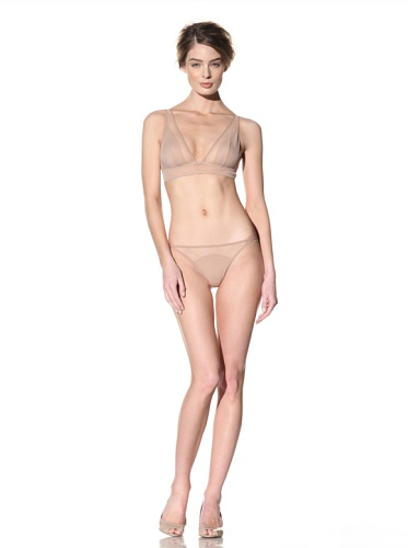 Addiction Women's Mesh Back Thong (Nude)