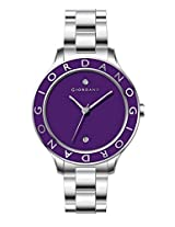 Giordano Analog Purple Dial Women's Watch - 2689-22