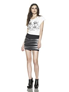 Boy Meets Girl Women's Every Which Way Skirt (Black/Heather Grey)