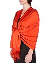 "78"" x 28"" Silky Soft Solid Pashmina Shawl / Wrap / Stole - Rust"
