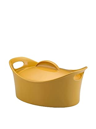Rachael Ray Stoneware Bubble and Brown Casserole Dish (Yellow)