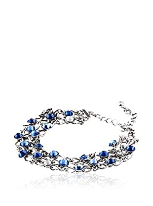 SWAROVSKI ELEMENTS Pulsera Grid Cielo