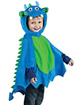 Blue Dragon Poncho Costume (X-Large - Fits up to size 6)